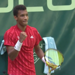 """A """"touchstone"""" win for Auger-Aliassime over idol Federer in Halle"""